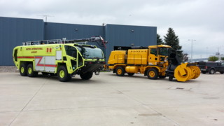 Oshkosh Delivers Two ARFFs, Blower To N.D. Airport