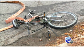 Hose Falls off Ohio Pumper, Hits Bicyclist