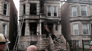 Fire Causes Porch to Collapse on Chicago Home