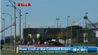 Live Video: Plane Crashes into Kan. Building