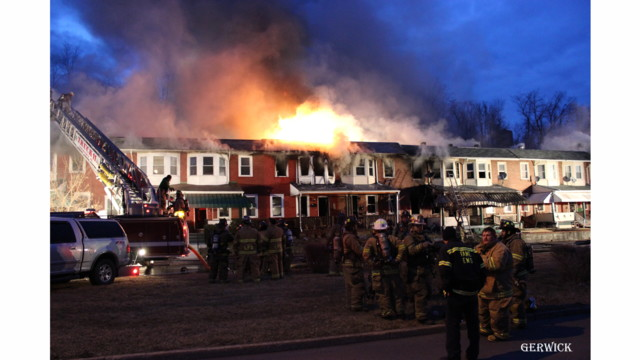 On The Job Pennsylvania: 41 Fire and EMS Departments Respond to 8-Alarm Fire in Juniata Terrace Rowhomes