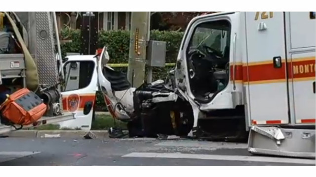 Montgomery County Fire Engine Ambulance Collide Firehouse