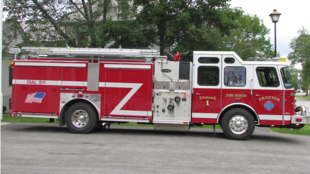 New Pumper Pulls Into Proctor, Vermont