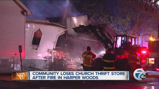 Suspicious Fire Destroys Mich. Thrift Shop
