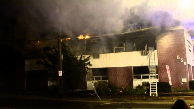 Long Island firefighters hit blaze
