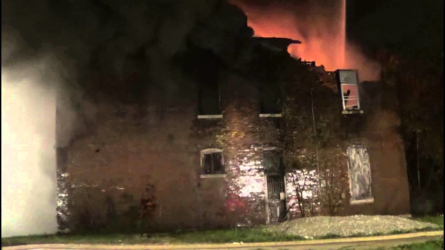 Vacant St. Louis Destroyed by Fire