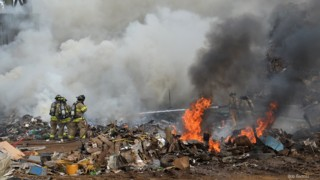 Photo Story: Water Limited at N.C. Scrap Yard Blaze