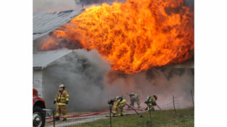 Photo Story: Flames Ravage Ohio Barn