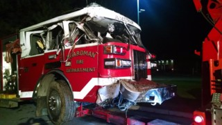 Ohio Pumper Ends Up in Ditch, Firefighter Hurt