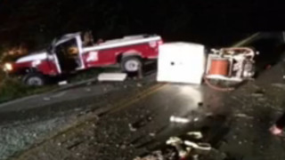 Fire Truck Totaled Trying to Avoid Deer in Missouri