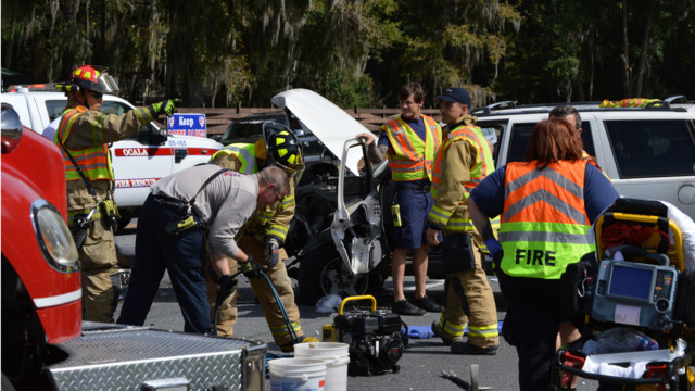 Photo Story: Three Crashes Keep Fla. Crews Busy
