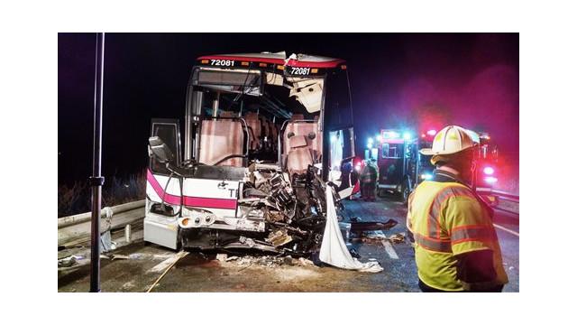 Tour Bus Crash on N.Y. Interstate Leaves Dozens Hurt