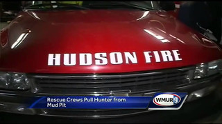 Hunter rescued from mud in N.H.