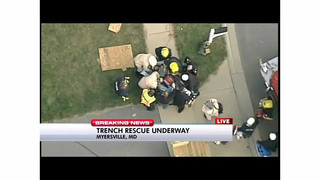 Trench rescue successful in Maryland