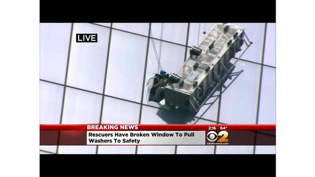 Video: FDNY Crews Rescue Window Washers at WTC