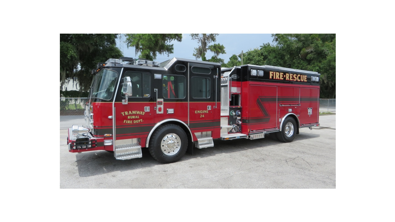 tramway fd  s c   puts fire engine 24 in service made by e