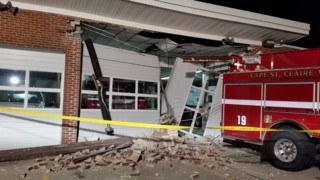 Md. Fire Truck Backs into Fire Station