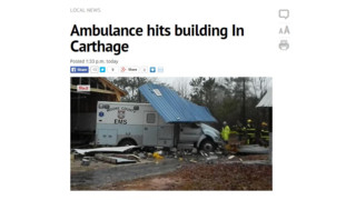 N.C. Ambulance Crashes Through Building