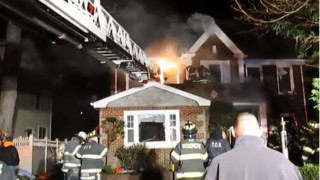 Long Island, N.Y. Firefighter Badly Hurt in House Fire