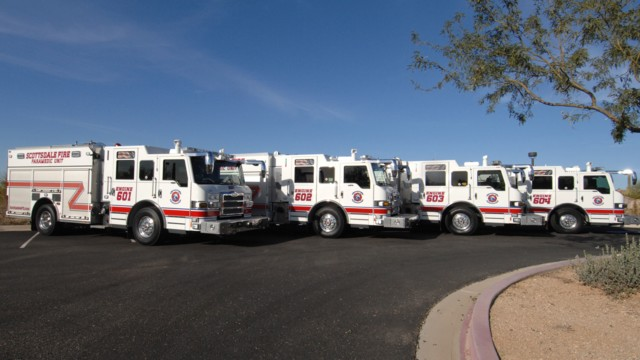 Scottsdale, Ariz., Orders Six Pierce Pumpers