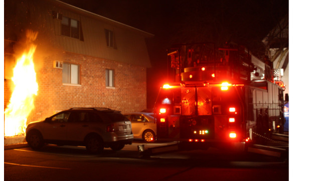 Photo Story: N.H. Apartment Fire Reaches Three Alarms