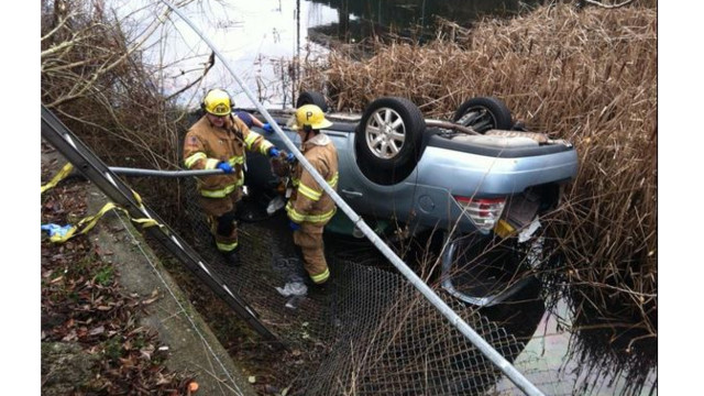 Woman Rescued from Overturned Car in Wash. Pond