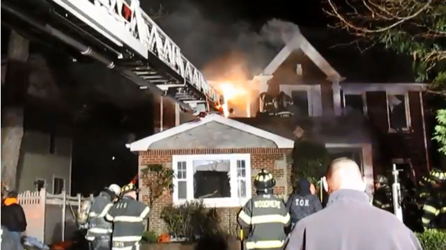 Woodmere 3 Alarm House Fire