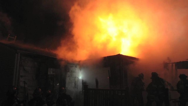 Flames hit in Long Island