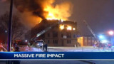Three-alarm Fire Hits N.Y. Building