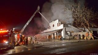 Photo Story: Fire Destroys N.C. Bar