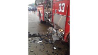 Fire Engine Struck on Jersey Turnpike