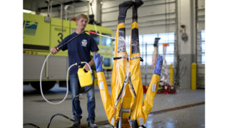 Decontamination Gear Cleaning, Drying System