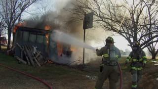 Photo Story: Crews Contain Texas Storage Building Fire