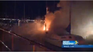 Catamaran Burns in California