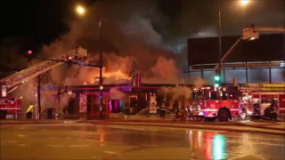 Chicago Firefighters Battle Commercial Fire
