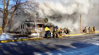Four-alarm Fire Hits Wis. Structure