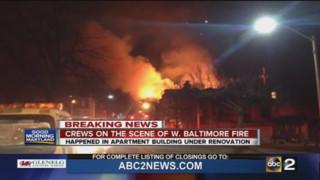 Blaze Hits Vacant Baltimore Apartment Building