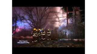 Mass. Firefighters Battle Three-alarm Blaze