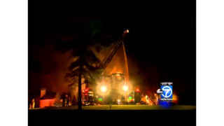 Md. Firefighters Battle Four-Alarm Blaze