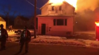 Buffalo House Goes up in Flames
