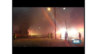 Raw Video: Warehouse Blaze