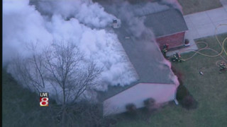 House Burns in Fishers, Ind.