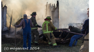 Photo Story: Fire Consumes Vacant Kan. Home