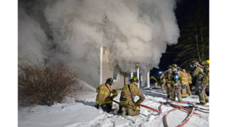Photo Story: Fire Hits Two-story Conn. Home
