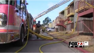 Okla. Apartment Fire Displaces Nine Families