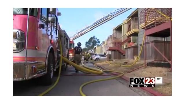 Okla. Apartment Fire Displaces Nine Families