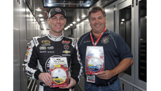 NASCAR Champ Donates Smoke Detector at Daytona Speedway