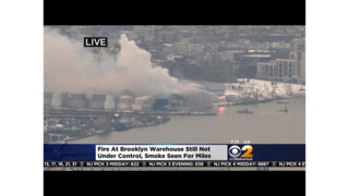 Fire  Still Burning in Massive Brooklyn Warehouse
