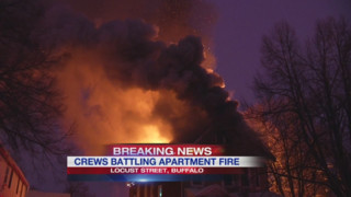 Buffalo Firefighters Battle Blaze