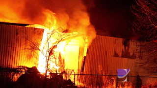 Commercial Building Burns in Iowa